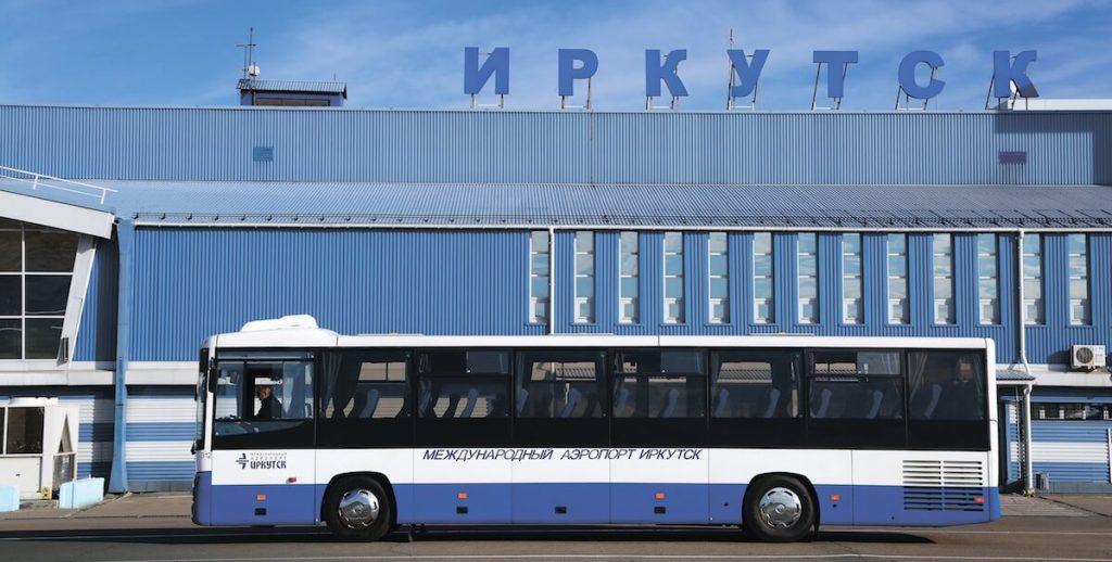 Проезжающий автобус аэропорт Иркутск